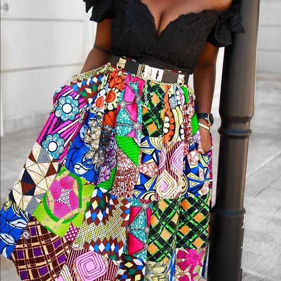 790112f07 Grassfields Skirts | Plus Size African Print Maxi Skirt | Poshmark